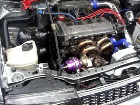 Тюненгованный двигатель 4A-FE с турбиной