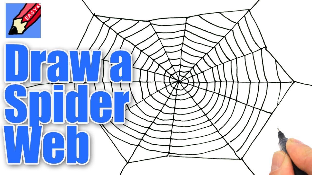 How To Draw A Spider 39 S Web For Halloween Real Easy Youtube