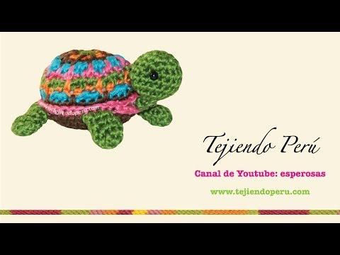 Tortuga pequeñita tejida a crochet (amigurumi little turtle)