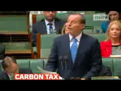 mitv - Australian PM Tony Abbott stuck to an election pledge to quickly repeal a carbon tax