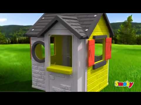 smoby my house childrens garden playhouse kids play home. Black Bedroom Furniture Sets. Home Design Ideas