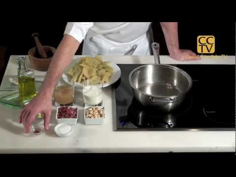 Cardo en salsa de almendras