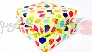 How To Gift Wrap Diagonally And Save Paper Tutorial For