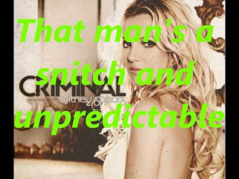 Crimnal britney spears lyrics