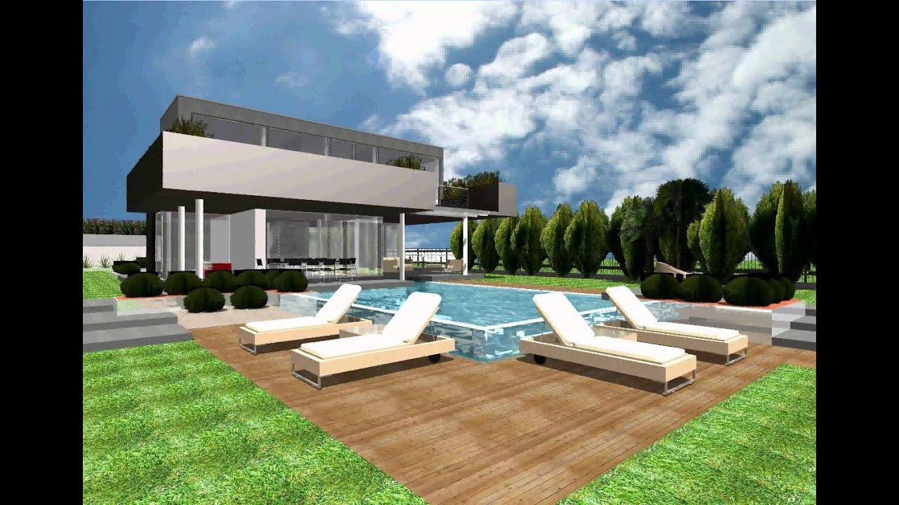 Progetto nuova villa unifamiliare youtube for Piante ville moderne