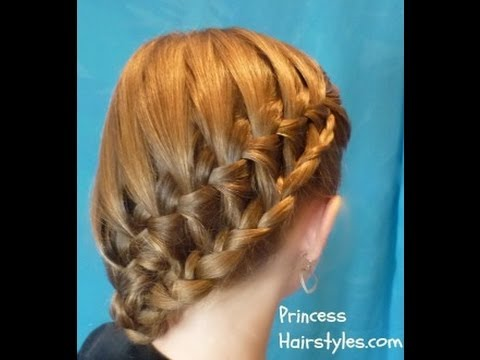 Stacked Waterfall Braid Side Ponytail Hairstyle For School
