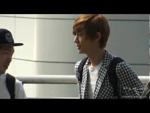 [Fancam] 120609 EXO-K at Incheon airport (Chanyeol Focus)