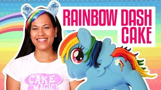 How To Make A RAINBOW DASH MY LITTLE PONY out of CAKE   Yolanda Gampp   How To Cake It