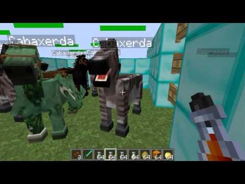 Como hacer un caballo vaca, pegaso, unicornio En Minecraft 1.6.2 y 1.6.4 (Mo Creatures)