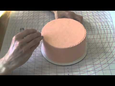 easy rolled fondant cake decorating how to use a crimper tool youtube. Black Bedroom Furniture Sets. Home Design Ideas