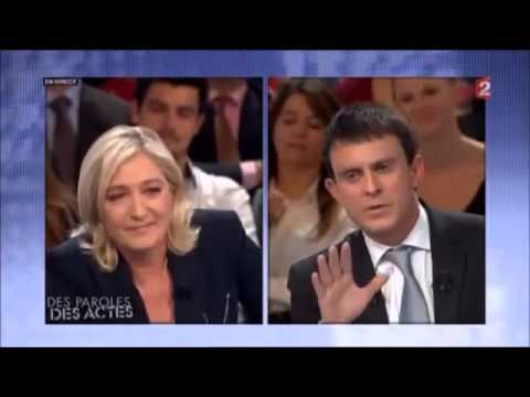 Manuel Valls RIDICULISE par Marine Le Pen gros clash !!!