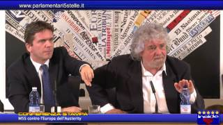 ESCLUSIVO: Grillo contro l'Europa dell'austerity - video integrale