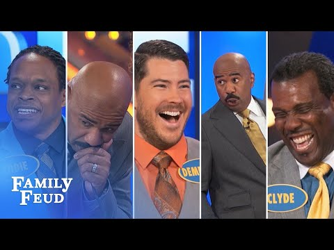 2015's Top 5 Steve Harvey Funny Moments | Family Feud
