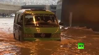 بيروت تغرق بمياه الأمطار