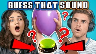 COLLEGE KIDS GUESS THAT SOUND CHALLENGE (REACT)
