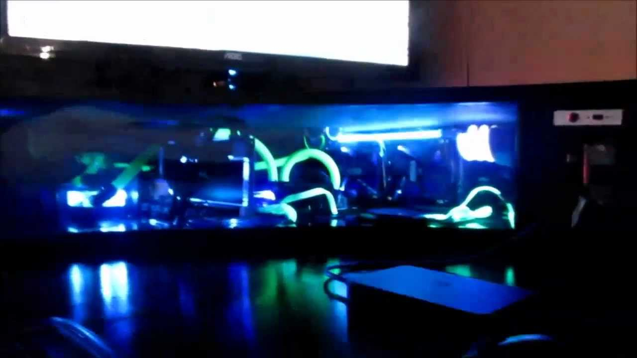 Best Custom Computer Desk - Gaming Setup Liquid Cooled - YouTube