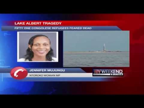 Boat capsizes into Lake Albert