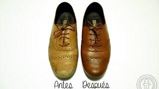 Teñir zapatos de cuero