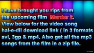 Haal E Dil Full Official Murder 2 Video Songs Download