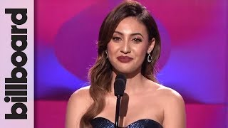 Francia Raisa Presents Selena Gomez With Woman of the Year Award at Billboard Women in Music 2017