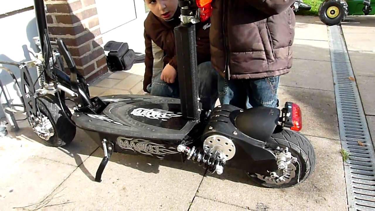 1000 watt e scooter mach 1 elektro roller youtube. Black Bedroom Furniture Sets. Home Design Ideas