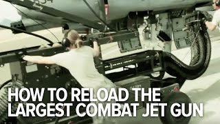 Reloading The Biggest Combat Jet Gun In The World
