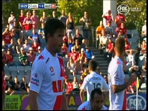 Harry Kewell Penalty Adelaide United Vs Melbourne Heart ( FOUL INCLUDED )