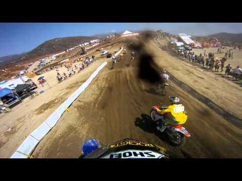GoPro HD: Jimmy Albertson 450 Moto 1 Race Lap Pala MX 2011
