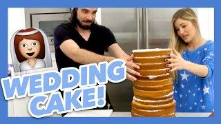 HOW TO MAKE A WEDDING CAKE!   iJustine