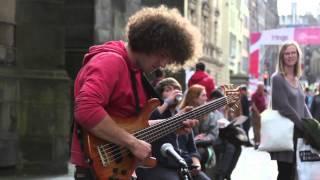 Wojtek Gasiorowski, amazing bass player @ Edinburgh Fringe Festival 2013