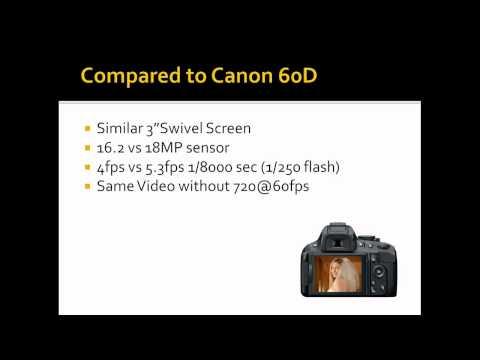 Nikon D5100 vs CanonT3i vs Canon60D