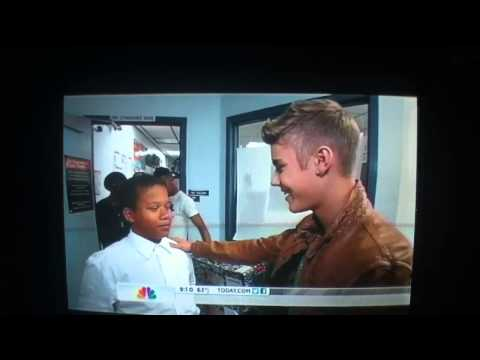 Justin at Whitney Elementary (from the Today Show), Honestly, this footage brought me to tears. I cannot begin to express how incredibly proud I am of Justin and everything he does to give back. The smile on h...