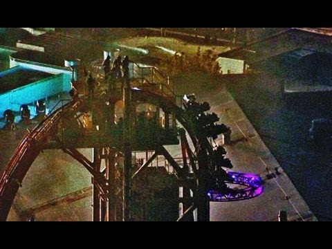 Roller Coaster Stuck In Vertical Position For 2 Hours With 12 People Universal Studios Orlando