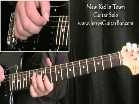 How To Play The Guitar Solo from New Kid In Town