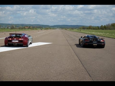 RACE Koenigsegg Agera S vs Bugatti Veyron 16.4 x 5 races action version multicamera