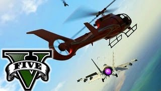GTA V Stealing A Commercial Plane & Military Jet How