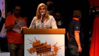 Ana Claudia Bitencourt fala na Convenção Nacional do Solidariedade