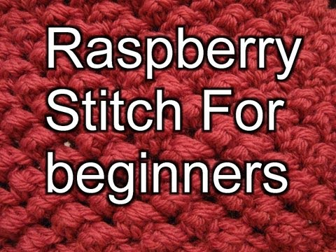 Raspberry Stitch for Crochet - In the round