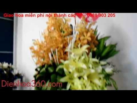 Cách Cắm Giỏ Hoa Đẹp,Shop hoa, hoa tươi, Dịch vụ điện hoa chuyên nghiệp,