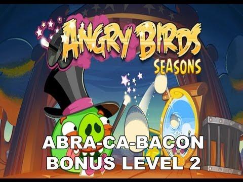 Angry Birds Seasons Abra ca bacon Bonus level 2 3 stars