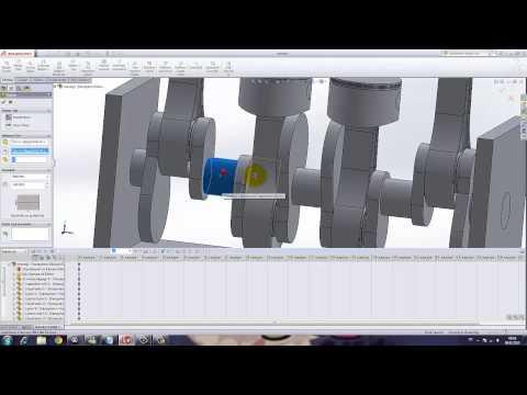 Yakın Kampüs   SolidWorks Krank Biyel Mekanizması   6   Animasyon
