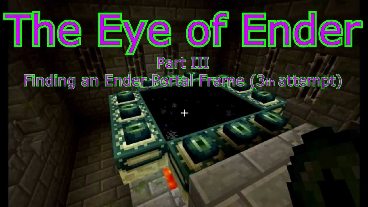 how to find end portal frame in minecraft
