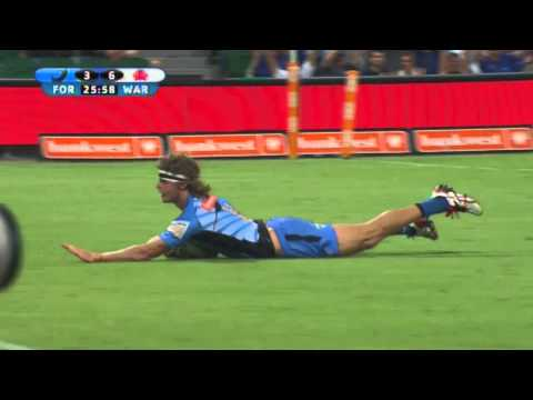 Nick 'The Honey Badger' Cummins after his hat-trick of tries | Super Rugby Video