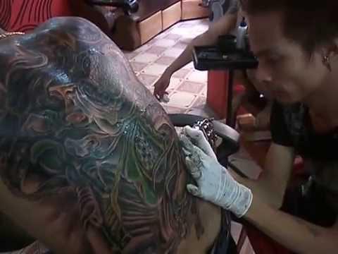 Hình xăm quan vân trường xăm kín lưng nghệ thuật đỉnh cao của tattoothanhbinh