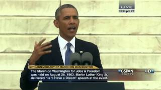 President Obama Speech at 50th Anniversary of March on Washington (C-SPAN)