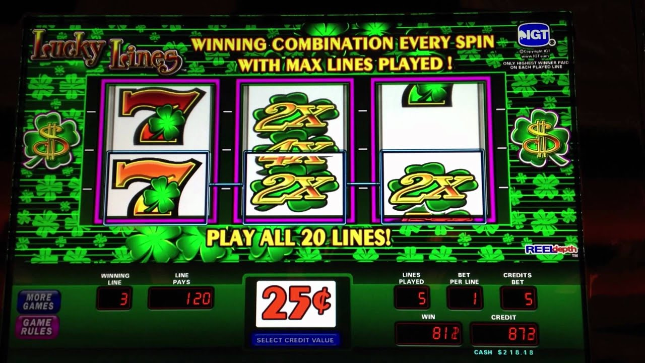 lucky straight 8 line slots