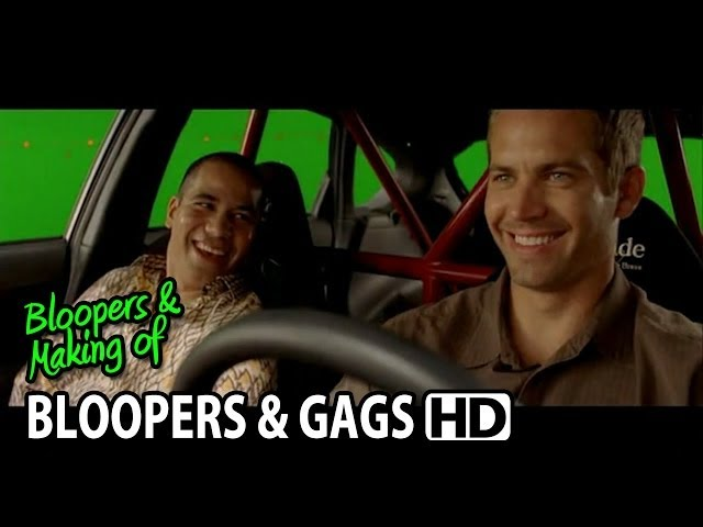"Fast & Furious 4 (2009) Bloopers Outtakes Gag Reel ""Paul Walker & Vin Diesel"""