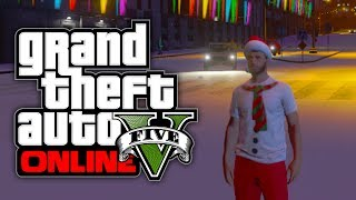 GTA 5 Online: NEW Christmas DLC Clothes Gameplay & Snow