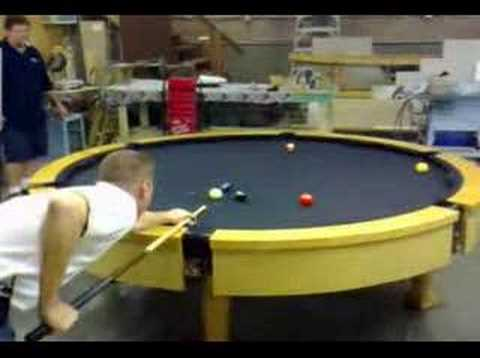 The First Ever Custom Round Pool Table Youtube