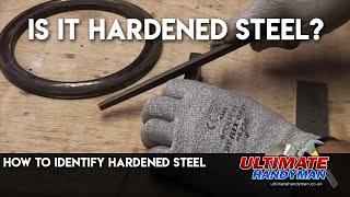 Identify hardened steel